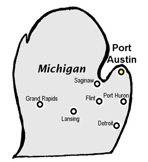 Map Of Port Austin Michigan Port Austin, Michigan    the Ultimate Family Feast